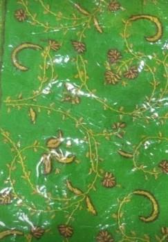 Chinon Sozan Work Saree -Green