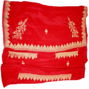 CHINON SAREE WITH TILLA WORK (HANDMADE)